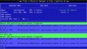 Clobi Resource Manager detected two jobs in the queues