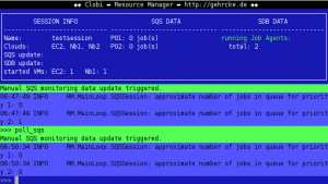 Clobi Resource Manager detects zero jobs in the queues