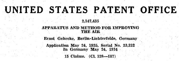US patent 2147435 heading