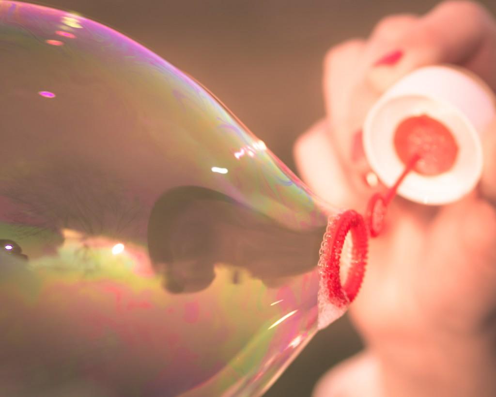 Seifenblase kurz vor Trennung